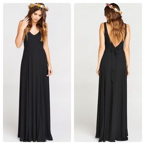 Show Me Your Mumu Black Jenn Chiffon Maxi Dress